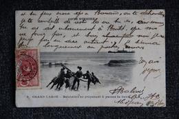 COTE D'IVOIRE - GRAND LAHOU - Une Baleinière Se Préparant à Passer La Barre. - Ivory Coast