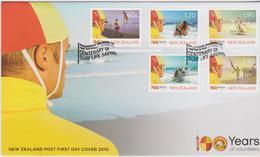 New Zealand 2010 Centenary Of Surf Life Saving FDC - FDC