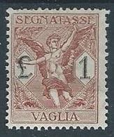 1924 REGNO SEGNATASSE PER VAGLIA 1 LIRA MH * - RR12901 - 1900-44 Victor Emmanuel III.