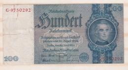 Allemagne . 100 Reichsmark 1935 - [ 4] 1933-1945 : Troisième Reich