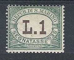 1924 SAN MARINO SEGNATASSE 1 LIRA MH * - RR7956-3 - Segnatasse