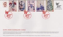 New Zealand 2010 Expo Shanghai China,souvenir Cover - FDC