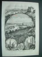 GRAVURE De 1868...Panorama De La France.. ROUEN Et La SEINE INFERIEURE...Dessin De M. Deroy - Estampes & Gravures