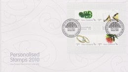 New Zealand 2010 Personalised Stamps,miniature Sheet FDC - FDC