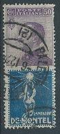 1924-25 REGNO USATO PUBBLICITARIO 50 CENT DE MONTEL - RR13541-2 - 1900-44 Victor Emmanuel III