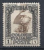 1924-29 LIBIA PITTORICA 1 CENT MNH ** - RR12558-2 - Libyen