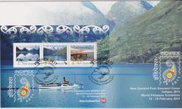 New Zealand 2011  Indipex Miniature Sheet FDC - FDC