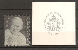 VATICANO 2003 25° Papa Giovanni Paolo II  Unificato N° 1294 MNH** - Vatican