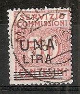 1925 REGNO USATO SERVIZIO COMMISSIONI 1 LIRA SU 30 C 7764 - 1900-44 Victor Emmanuel III.