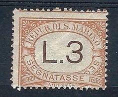 1925 SAN MARINO SEGNATASSE 3 LIRE MH * - RR7945 - Segnatasse