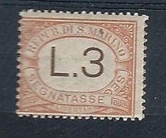 1925 SAN MARINO SEGNATASSE 3 LIRE MH * - RR7945-2 - Segnatasse