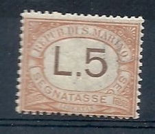 1925 SAN MARINO SEGNATASSE 5 LIRE MNH ** - RR7945 - Segnatasse
