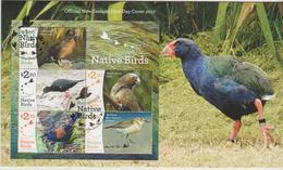 New Zealand 2017  Native Birds Miniature Sheet FDC - FDC