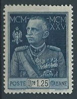 1925-26 REGNO GIUBILEO 1,25 LIRE D. 13 1/2 MH * - RR12921-2 - 1900-44 Victor Emmanuel III