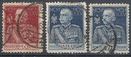 1925-26 REGNO USATO GIUBILEO 3 VALORI D. 11 - RR12973 - 1900-44 Victor Emmanuel III