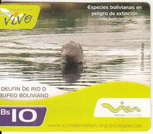 BOLIVIA - Dolphin, Viva Mini Prepaid Card Bs.10 Exp.date 28/01/12, Used - Bolivia