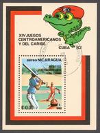 Nicaragua 1982 Mi# Bl.143 (CTO) CENTRAL AMERICAN AND CARIBBEAN GAMES CUBA '82 - Nicaragua
