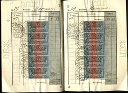 Russia  1918 Mi 136-137,  29 Used Stamps. Michel Price   410 €.  VF - Revenue Stamps