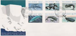 New Zealand Ross Dependency 1988 Whales FDC - FDC