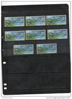 ISRAEL,2012,ATM LABELS, DOLPHINS,TURTLES,FISH, MNH , 8v - Dolphins