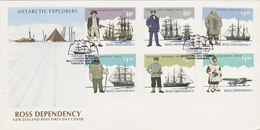 New Zealand Ross Dependency 1995 Explores FDC - FDC