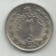2 Rial 1977. High Grade KM#1174 - Iran