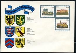 DDR U1-1-85 C2 UMSCHLAG Burgen Der DDR ZUDRUCK WAPPEN RANIS 1985  NGK 22,00 € - Private Covers - Mint