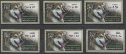 ISRAEL, 2016, MNH, ATM, DOGS, DOG ADOPTION IN ISRAEL, TEDDY, NORTHERN  ISRAEL, 6v - Hunde