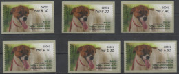 ISRAEL, 2016, MNH, ATM, DOGS, DOG ADOPTION IN ISRAEL, BOB, CENTRAL ISRAEL, 6v - Hunde