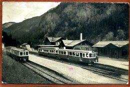 Suisse  CPSM Petit Format Ligne Martigny-Chamonix Station De Chatelard    Joli Plan, Trains  Bon état  (marques D'usage) - VS Wallis