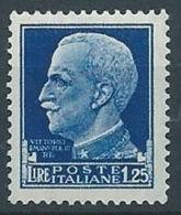1929-42 REGNO IMPERIALE 1,25 LIRE MNH ** - RR13718 - 1900-44 Victor Emmanuel III