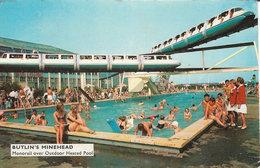 Minehead Butlin's Monorail Over Outdoor Heated Pool Used (Butlin's) [P0036/1D] - Minehead