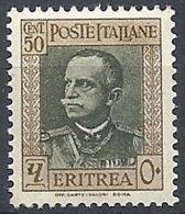 1931 ERITREA EFFIGIE 50 CENT MNH ** - RR12011-2 - Eritrea