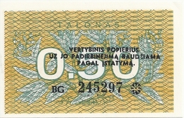 LITUANIE 0.50 TALONAS 1991 UNC P 31 - Lithuania