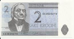 ESTONIE 2 KROONI 1992 UNC P 70 - Estonie