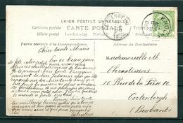 Nr 83 Op Postkaart Van KNOCKE Naar CORTENBERGH - 14 Aug 1908 - 1893-1907 Coat Of Arms