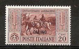 1932 EGEO CALINO GARIBALDI 20 CENT MH * - RR7383 - Egeo (Calino)