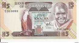 ZAMBIE 5 KWACHA ND1980-88 UNC P 25 C - Zambie