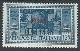 1932 EGEO NISIRO GARIBALDI 1,25 LIRE MH * - RR13584-2 - Egeo (Nisiro)