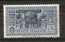 1932 EGEO PISCOPI GARIBALDI 1,25 LIRE MH * - RR7399 - Egeo (Piscopi)