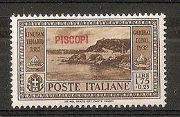 1932 EGEO PISCOPI GARIBALDI 1,75 LIRE MH * - RR7399 - Egeo (Piscopi)