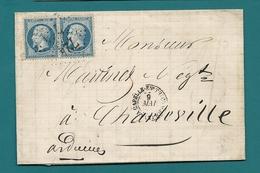 Aisne - La Capelle En Thierache Pour Charleville. GC 724 + CàD Type 15. Double Port - Postmark Collection (Covers)