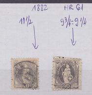 SWITZERLAND-1882-NR-61-GEZ-9.3/4-9.1/6-(COTE-750-EURO)USED-SEE-SCAN - Suisse