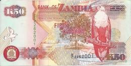 ZAMBIE 50 KWACHA 1992 AUNC P 37 A - Zambie