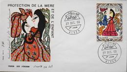 Envel. Illustrée 1er Jour ALGERIE 1969 - Protection De La Mère - Affr. N° 505 Y & T - Alger Le 27.12.1969 -TBE - Algeria (1962-...)