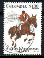 COLOMBIE. PA 560 Oblitéré De 1971. Equitation. - Jumping