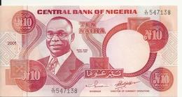 NIGERIA 10 NAIRA 2001 UNC P 25 F - Nigeria
