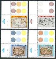 1981 Isola Sant'Elena Mappe Cartes Isole Isle Set + Block MNH** No133 - Isola Di Sant'Elena