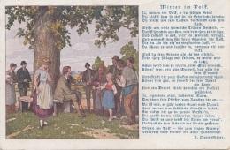 Spruchkarte V.N. Plattensteiner- Mitten Im Volk - Künstlerkarten