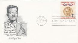 USA 1957 - FDC Brief 8 C Champion Of Liberty, Stempel Washington - Ersttagsbelege (FDC)
